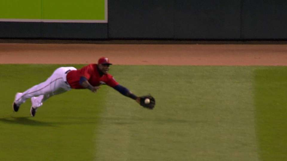 Sano's outstanding catch