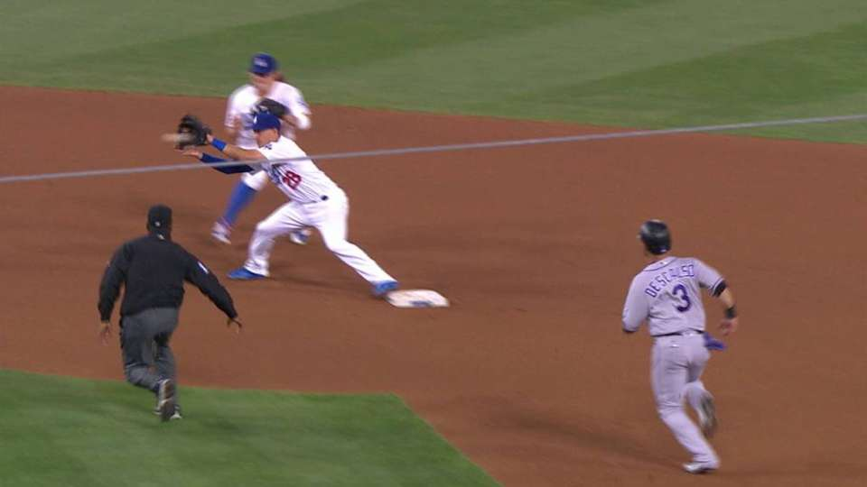 Barnes' great double play