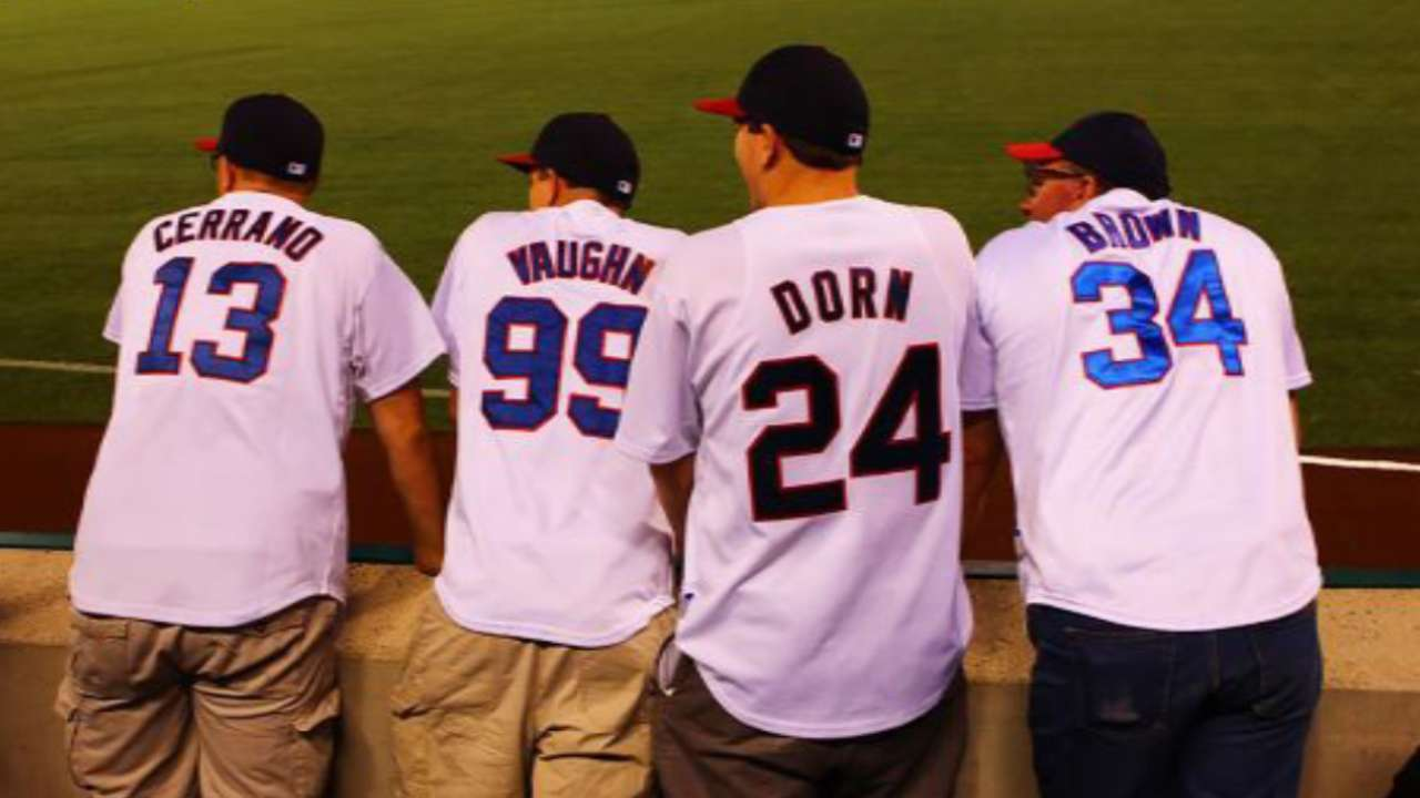 f9f49034c64 Four Indians fans went full  Major League  to cheer on the Tribe in Anaheim