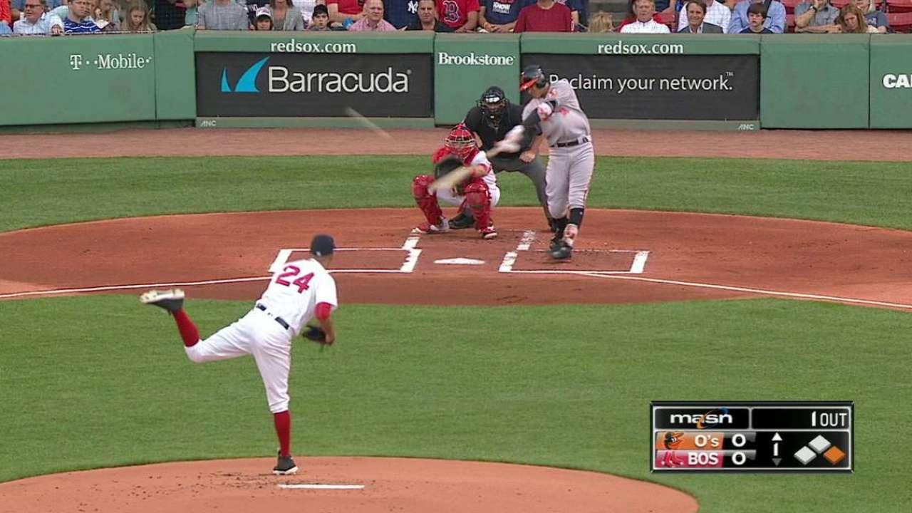 Machado dio HR y Baltimore le arrebató la cima a Boston
