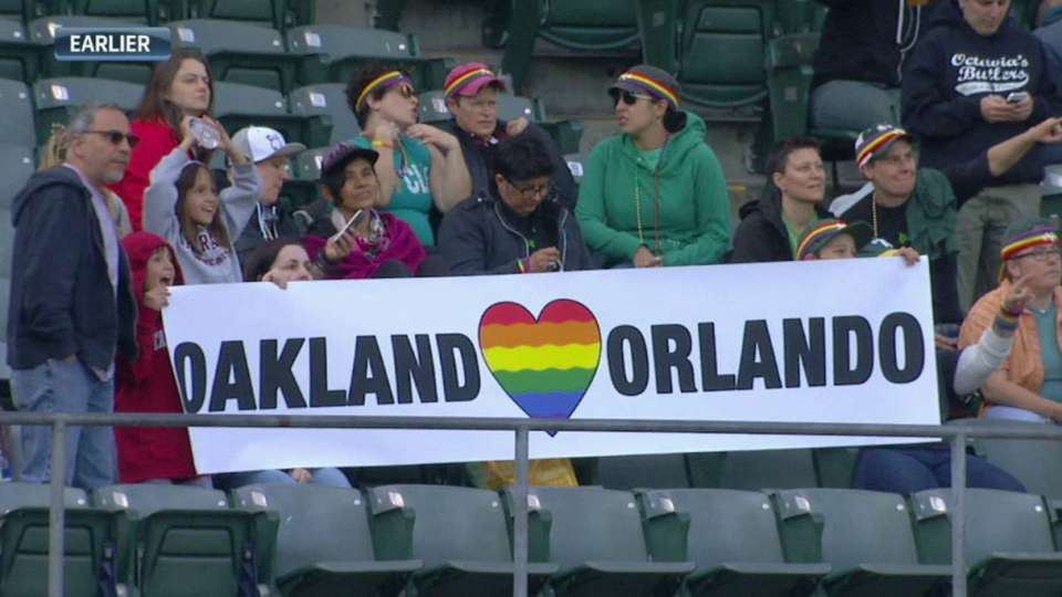 A's pay tribute to Orlando