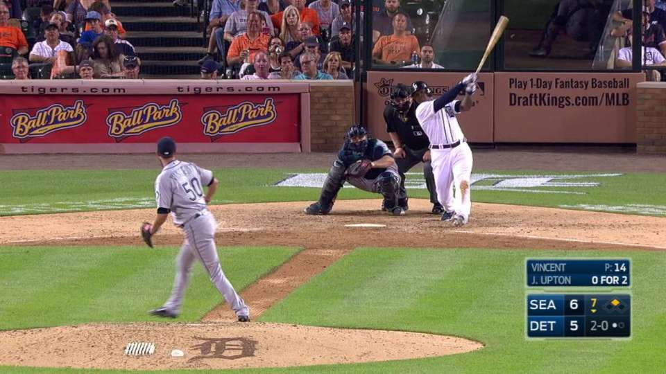 Upton's two-run blast to center