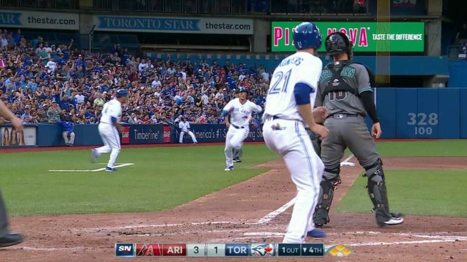 Pillar's two-run double
