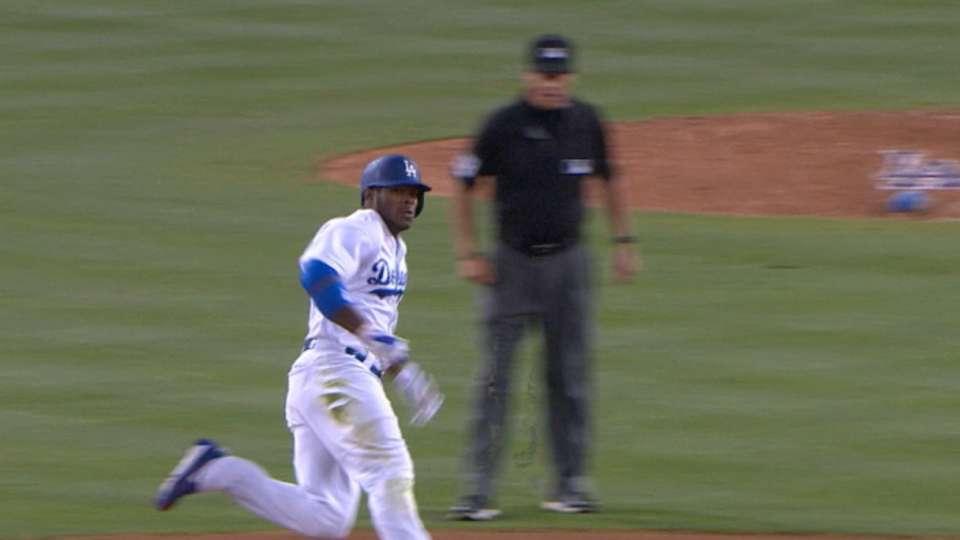 Puig le da victoria a Dodgers