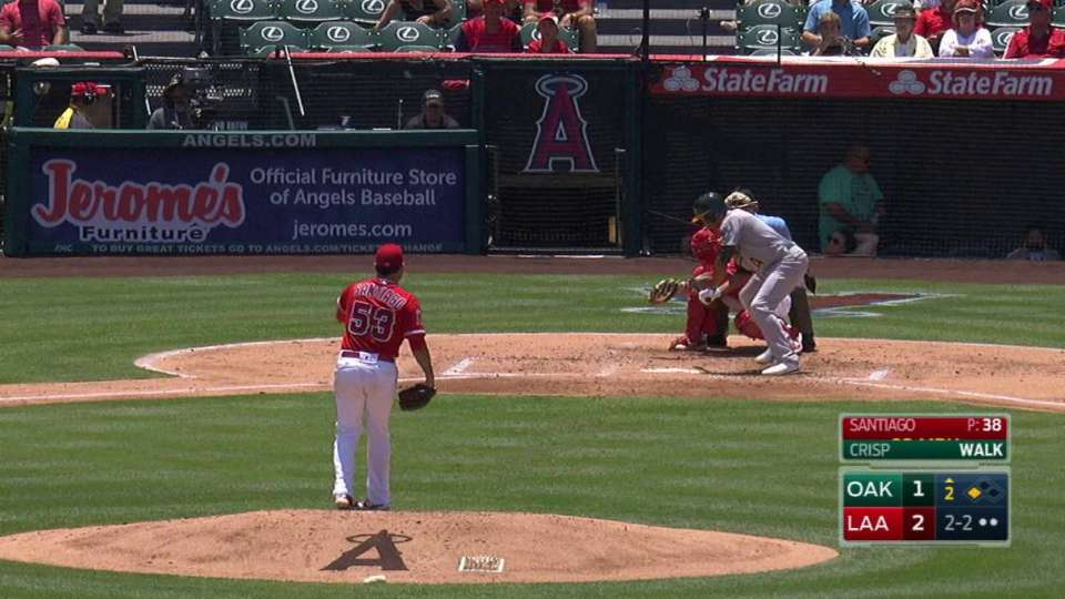 Santiago strikes out Crisp
