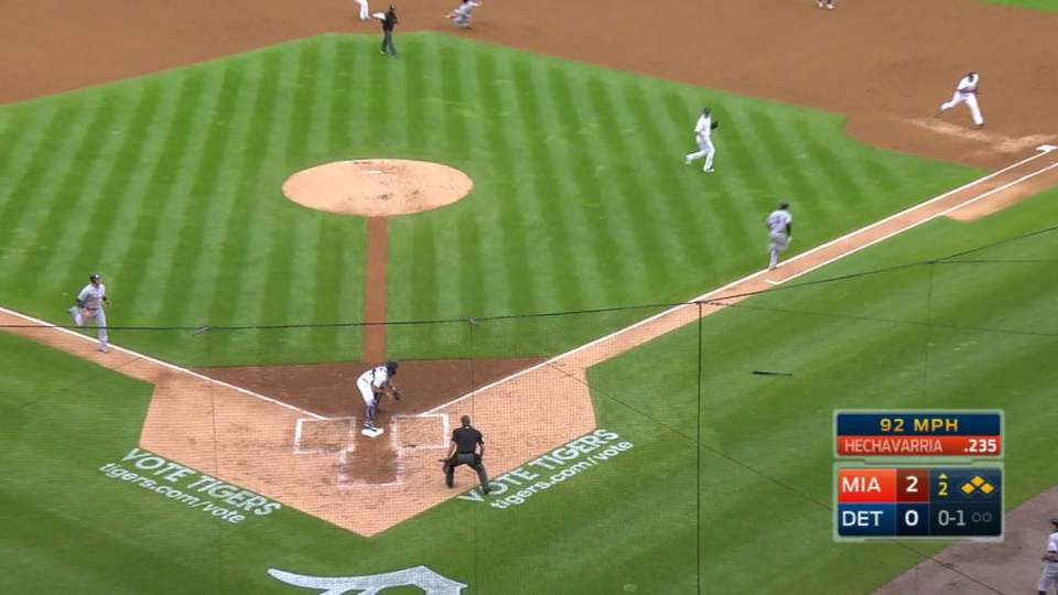 Miggy starts a 3-2-3 double play