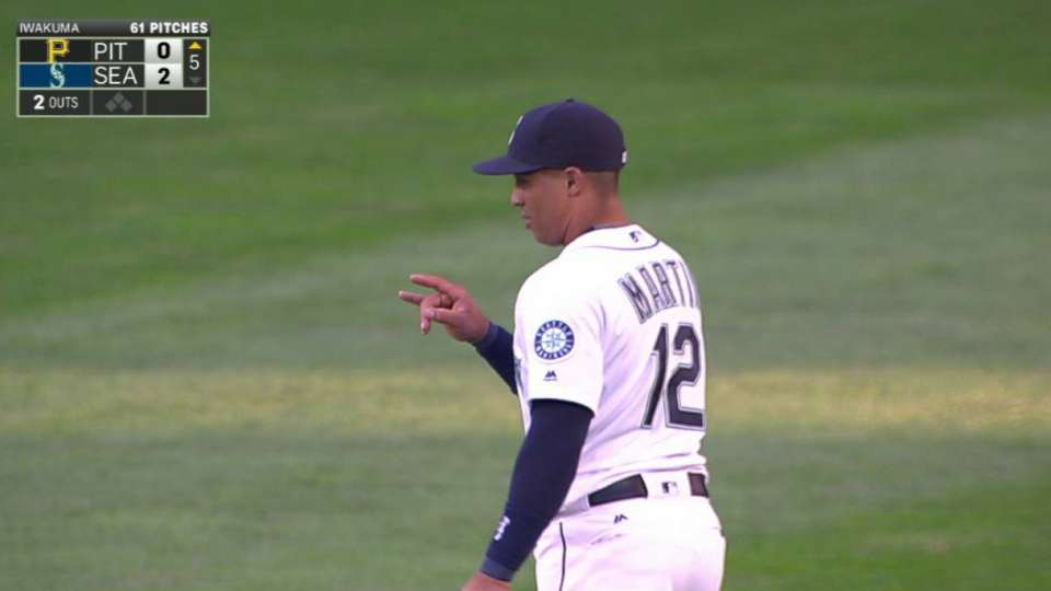 Martin turns double play
