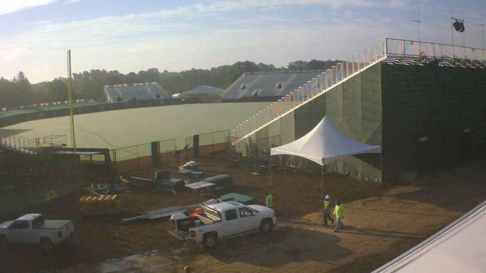 Fort Bragg ballpark progress