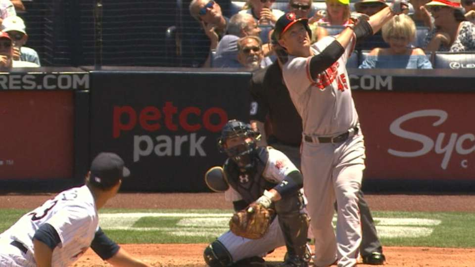 Trumbo's homer ties MLB record