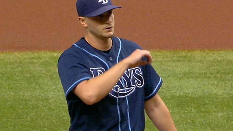 Odorizzi's seven strikeouts