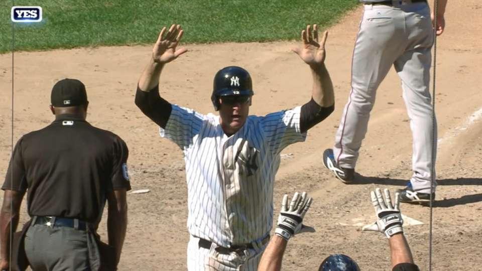 Yankees ganan con un passed ball