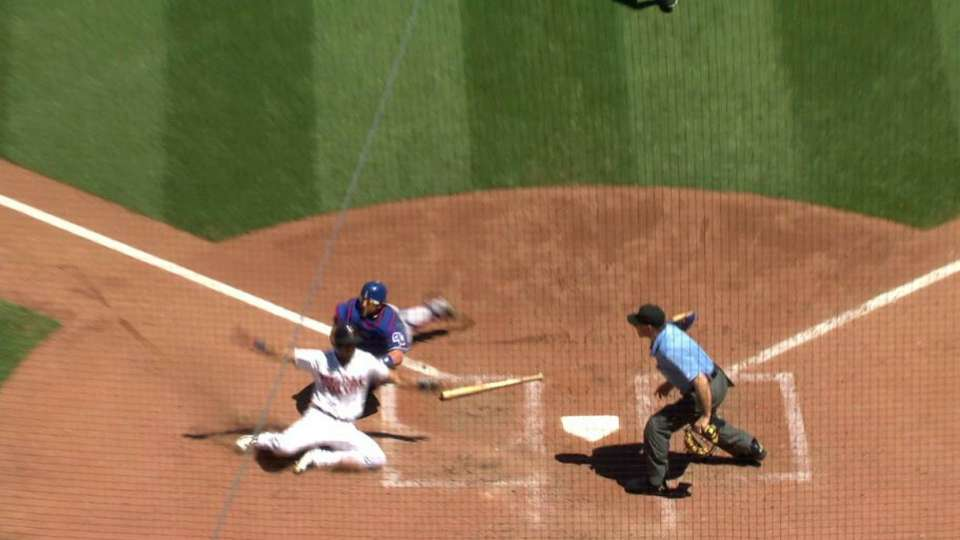 Andrus gets the out at home