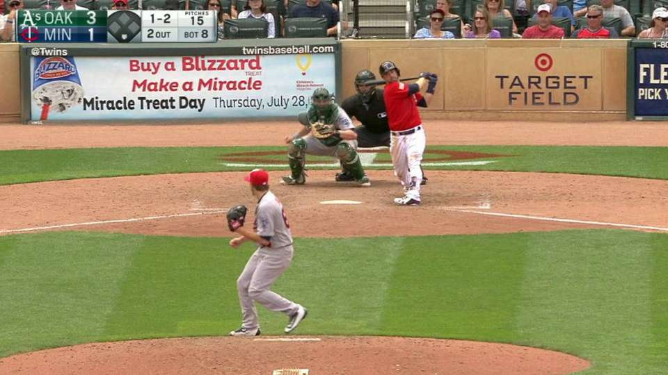 Dull strikes out Dozier