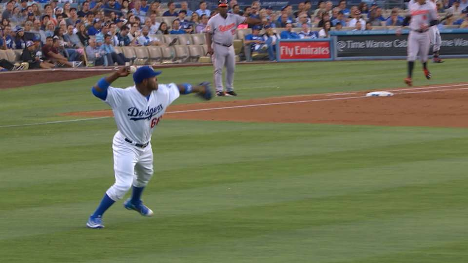 Puig nails Wieters at second