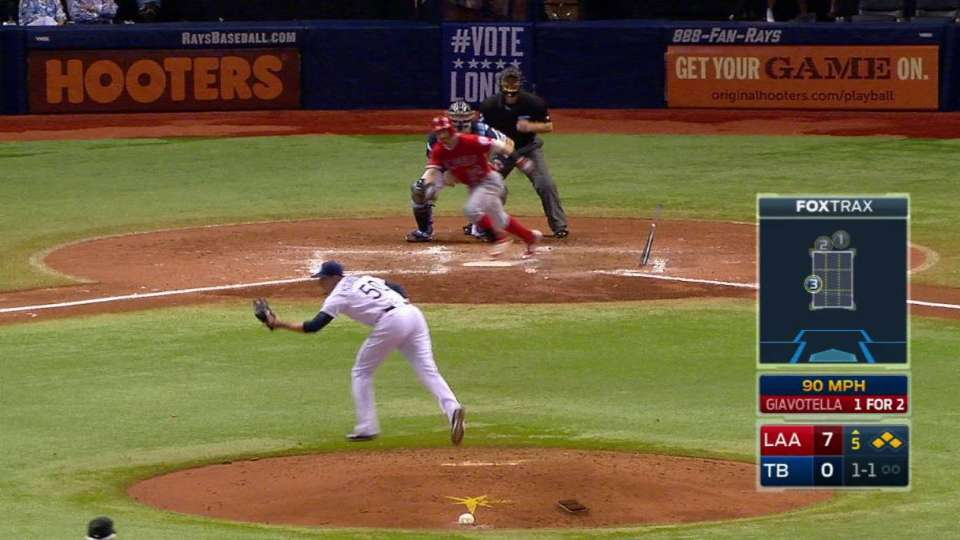 Rays turn two with bases loaded