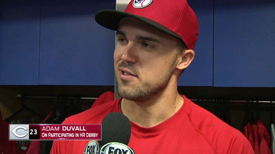 Duvall on the Home Run Derby