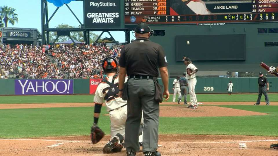 Peavy makes funny catch