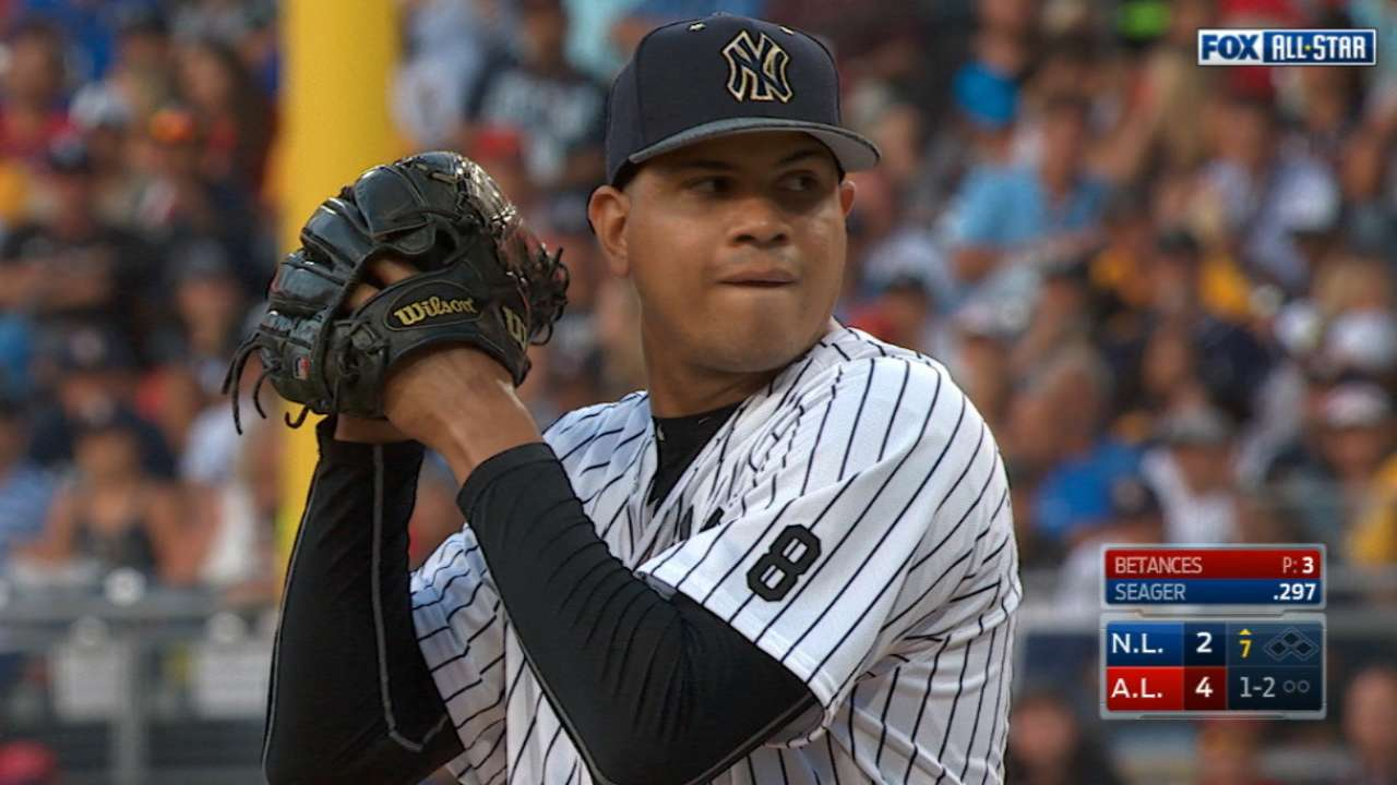ed2ca03acab Dellin Betances pitches well in 2016 MLB All-Star Game