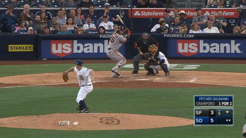 Baumann makes debut vs. Giants