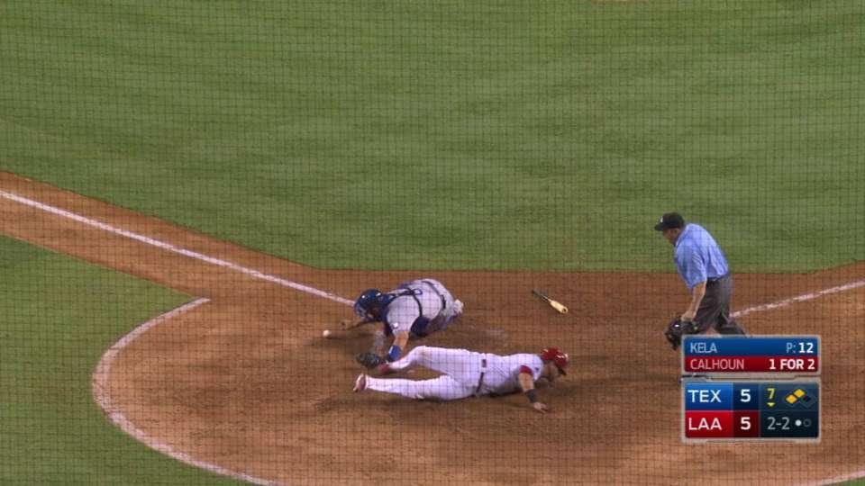 Calhoun's RBI fielder's choice