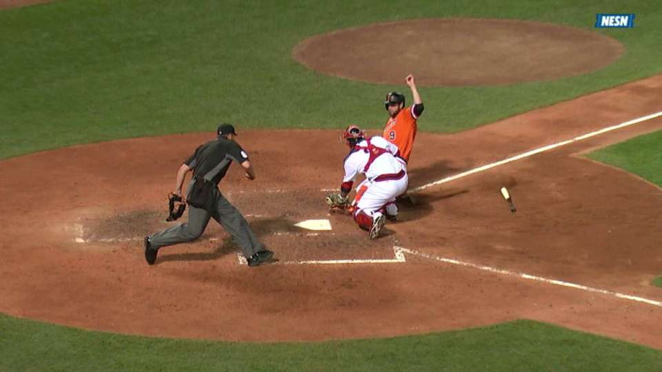 Red Sox turn two, call stands