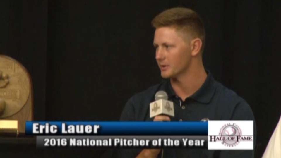 Lauer is Pitcher of the Year
