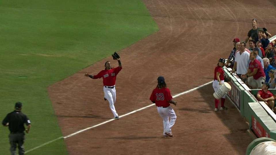 Martinez's running grab