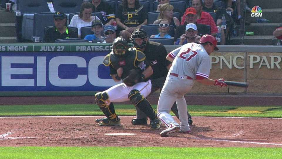 Nola stays in after hit by pitch