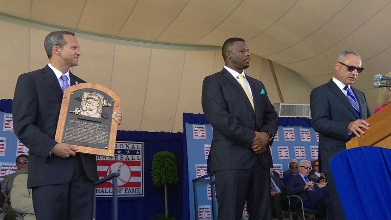 1b4cd62802 Ken Griffey Jr. inducted into Hall of Fame | MLB.com