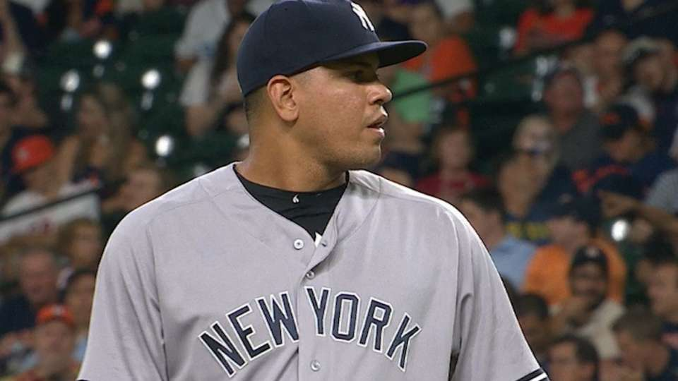Betances strikes out the side