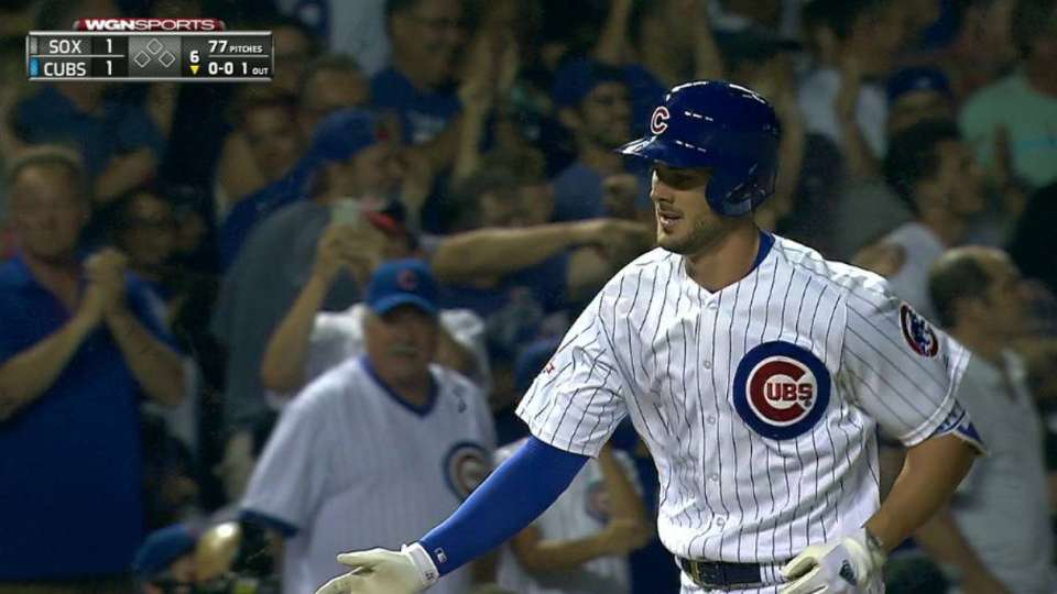 Bryant's solo homer in the 6th