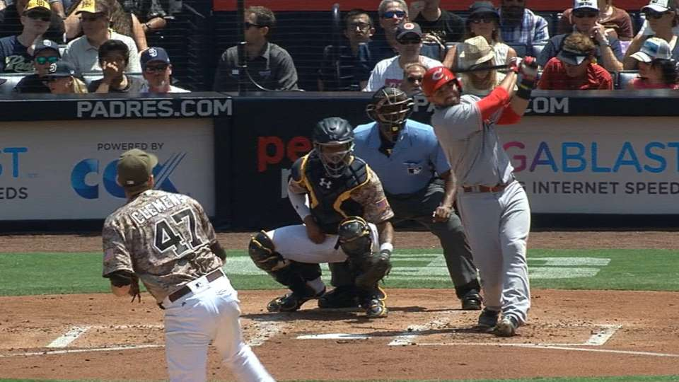 Primer tablazo de Peraza en MLB