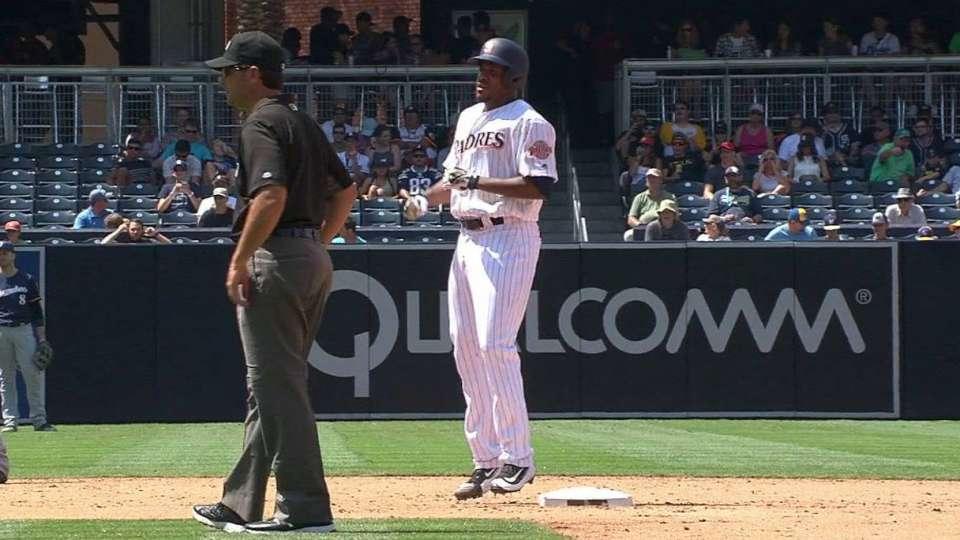 Jackson steals second base