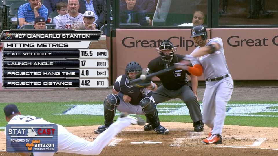Statcast: Stanton's 115.5-mph HR
