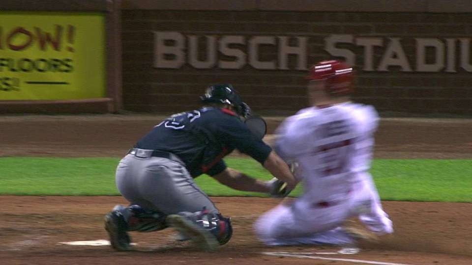 Francoeur's catch and throw home