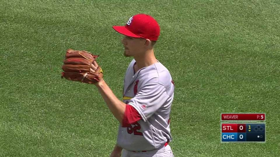 Weaver's first career strikeout