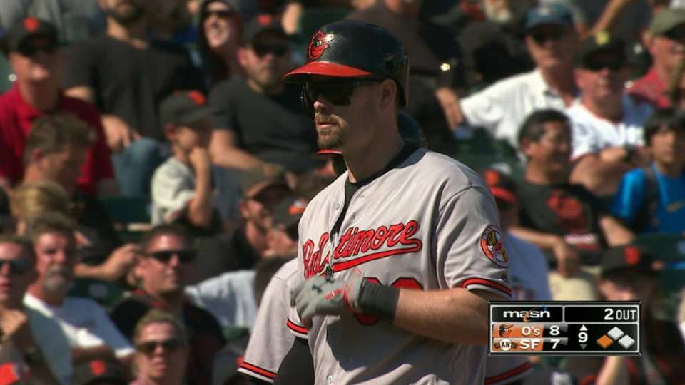 Wieters' triple to right-center