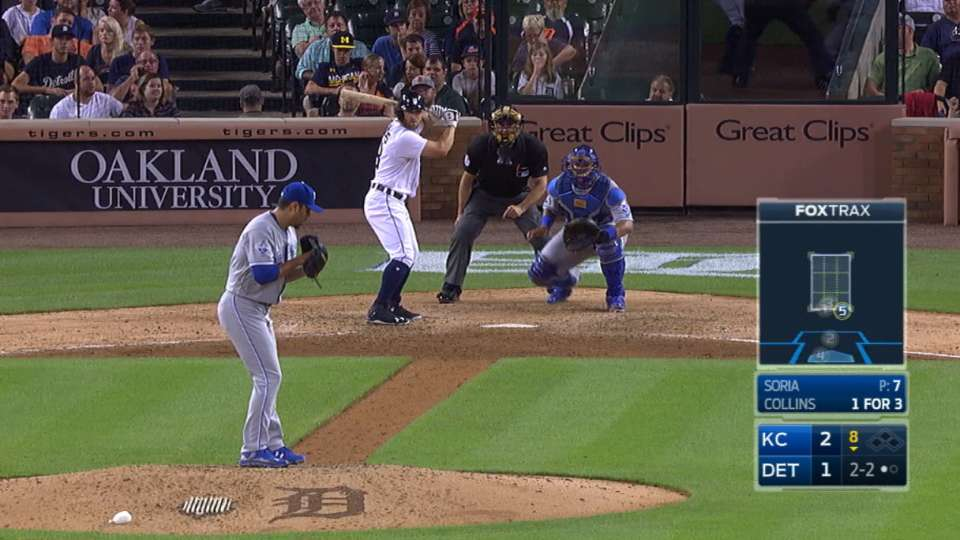 Collins strikes out, gets tossed