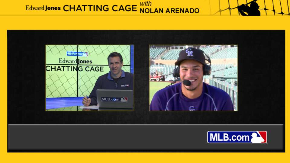 Arenado gives his brother advice