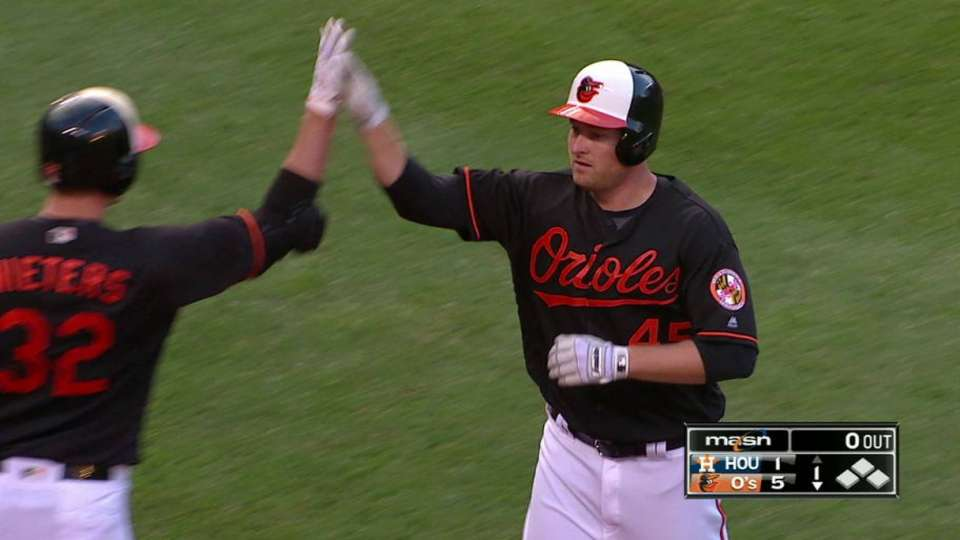Trumbo goes back-to-back-to-back