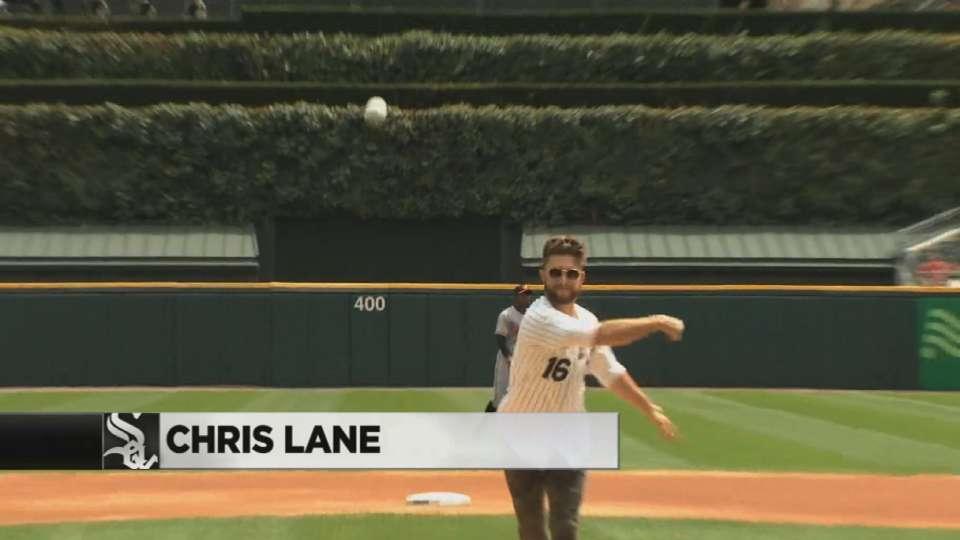 Chris Lane's first pitch