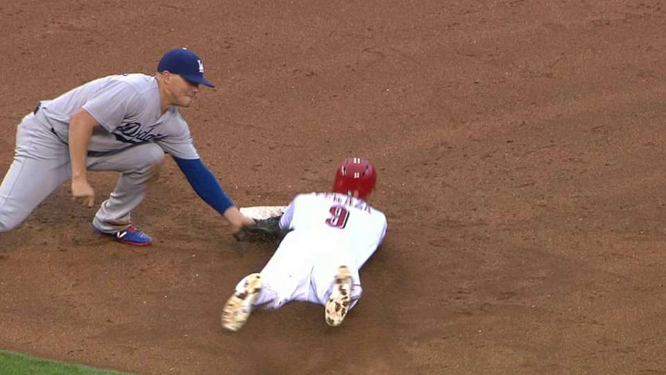 Anderson catches Peraza stealing