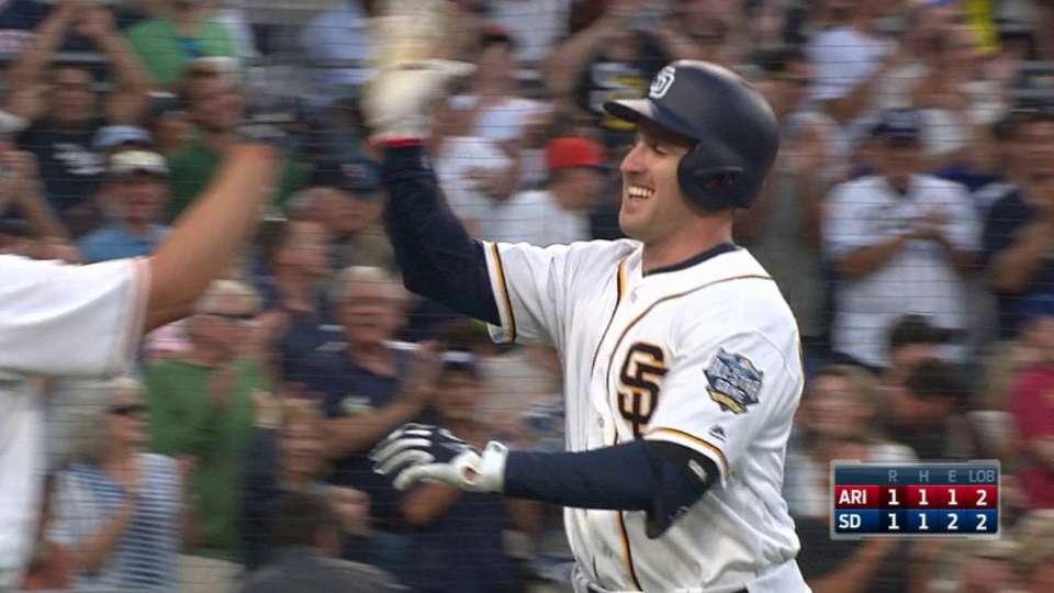 Kivlehan's first MLB hit, homer