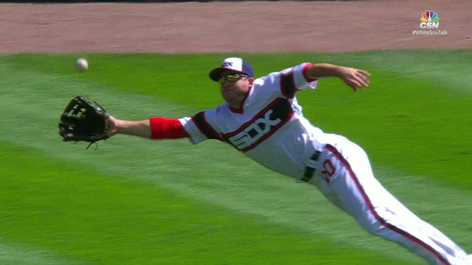 Shuck's amazing diving grab