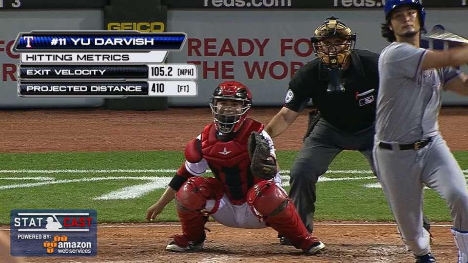 Statcast: Darvish's first homer