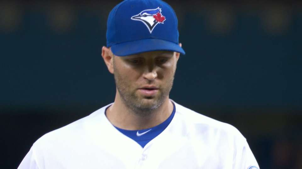 Happ's six strikeouts