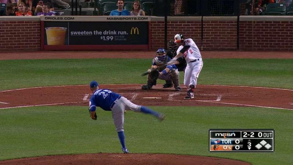 Hardy's solo homer