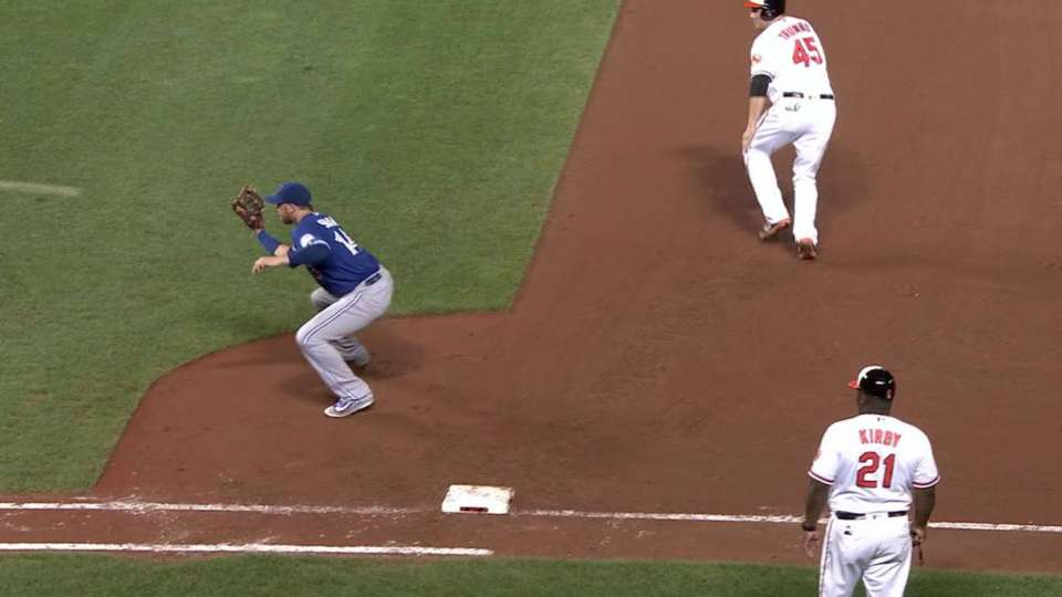 Smoak's unassisted double play