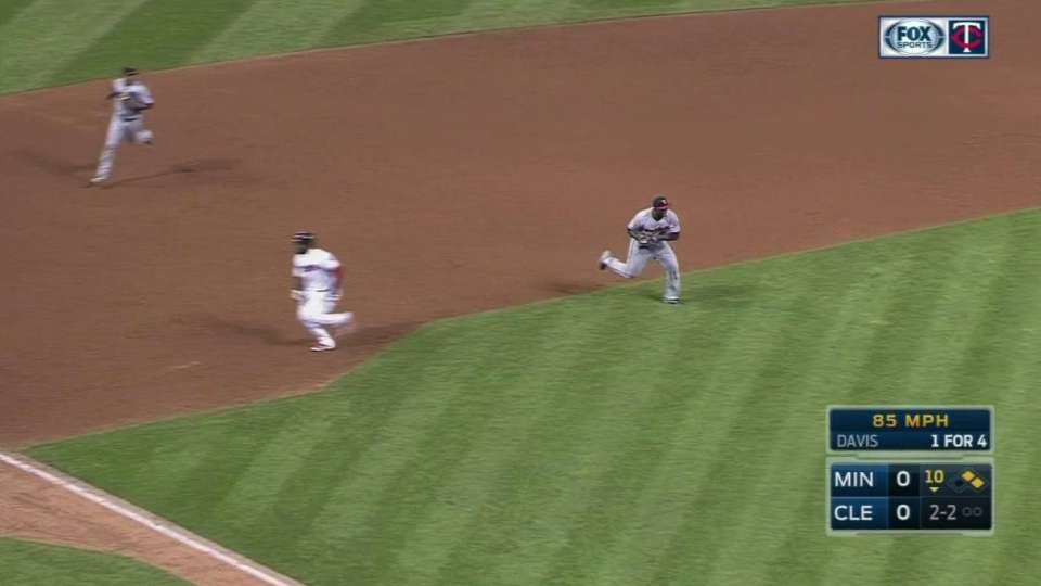 Almonte ruled out on a tag play