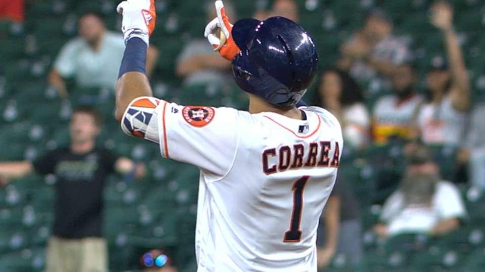 Correa empata record de Astros